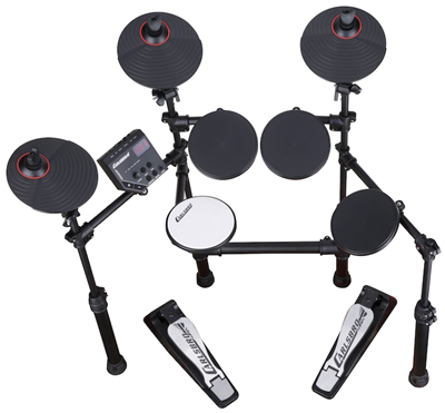 Carlsbro-CSD100-electronic-drumkit-drum-set-front-above-view