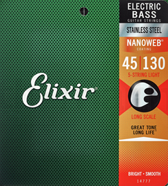 Elixir 14777 Electric Bass NANOWEB Medium Light ...