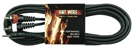 GEWA Cinch cable Hot Wire 1,5 m black