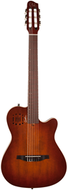 Godin ACS Burnt Umber Flame Nylon + Gig Bag
