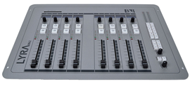 D&R Lyra 8 Fader control surface broadcast mikser