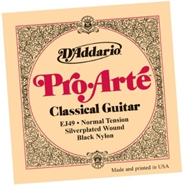 D'Addario EJ49 Pro-Arte Black Trebles Normal Ten...