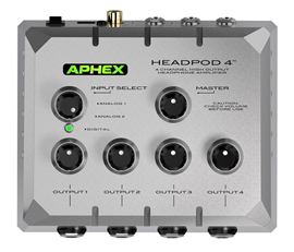 Aphex HeadPod 4 | High-output Headphone Amplifier
