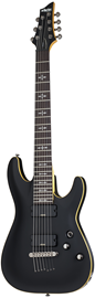 Schecter Demon-7 FR | Aged Black Satin (ABSN) #3214