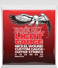 Ernie Ball 2208 Light Nickel Wound w/ Wound G Ga...