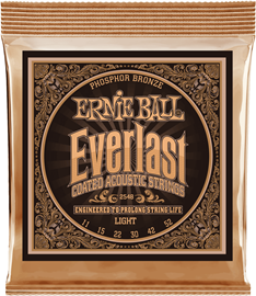 Ernie Ball 2548 Everlast Light Coated Phosphor B...
