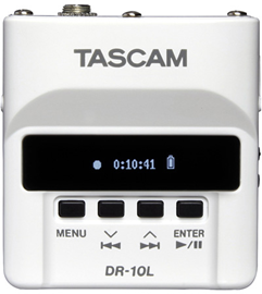 Tascam DR-10L White | Micro Linear PCM Recorder ...