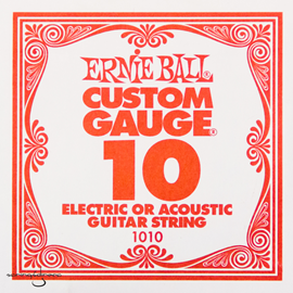 Ernie Ball 1010 Plain Steel Single Stri...