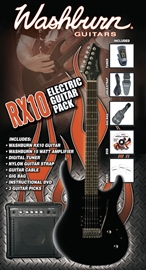 Washburn RX10 Electric Guitar Pack Metallic Cher...
