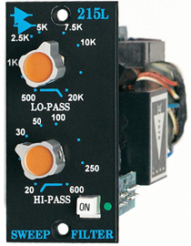Api 215L | 200 Series Hi/Low-pass Sweep Filter