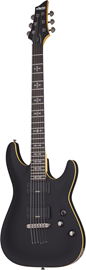 Schecter Demon-6 | Aged Black Satin (ABSN) #3660
