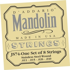 DAddario JS74 Set Mandolin Stainless Steel Mediu...