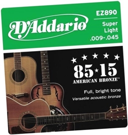 DAddario EZ890 85/15 Bronze Super Light 9-45