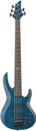 ESP LTD B-155DX See-Thru Blue Bass Guitar