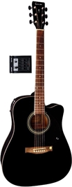 Gewa Music Tenson E-Acoustic D10-CE Black