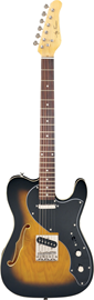 Jay Turser JT-LTCRUSDLX Antique Natural Sunburst...