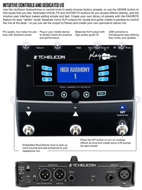 TC-Helicon Play Acoustic Vocal Effect Processor