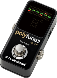 TC Electronic PolyTune 2 Noir | Ultra-Compact Tuner