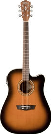 Washburn WD7SCE Matte Antique Tobacco Sunburst