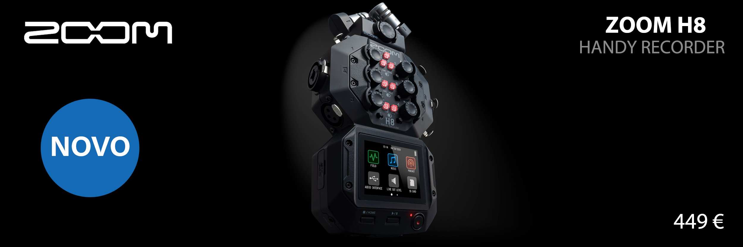 Zoom H8 | Handheld 8-input / 12-track Portable Handy Recorder