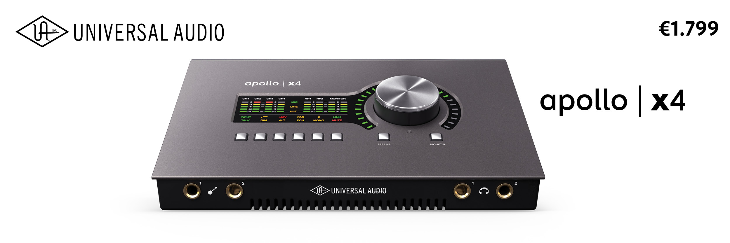 Universal Audio Apollo X4 | Desktop Audio Interface
